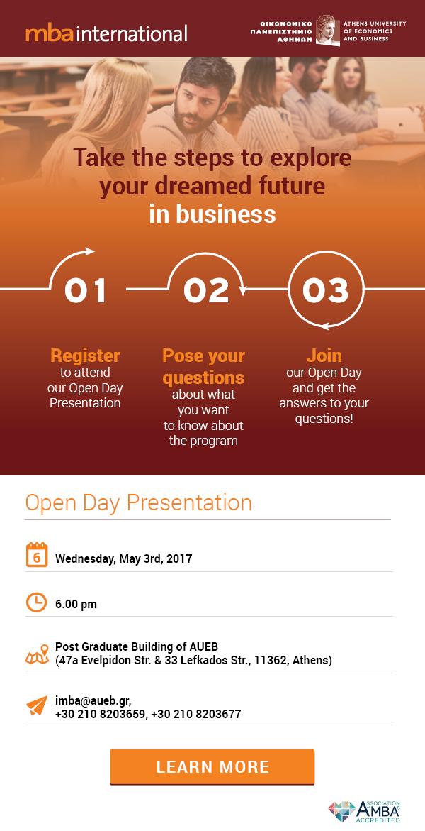 IMBA Open Day Presentation 2017