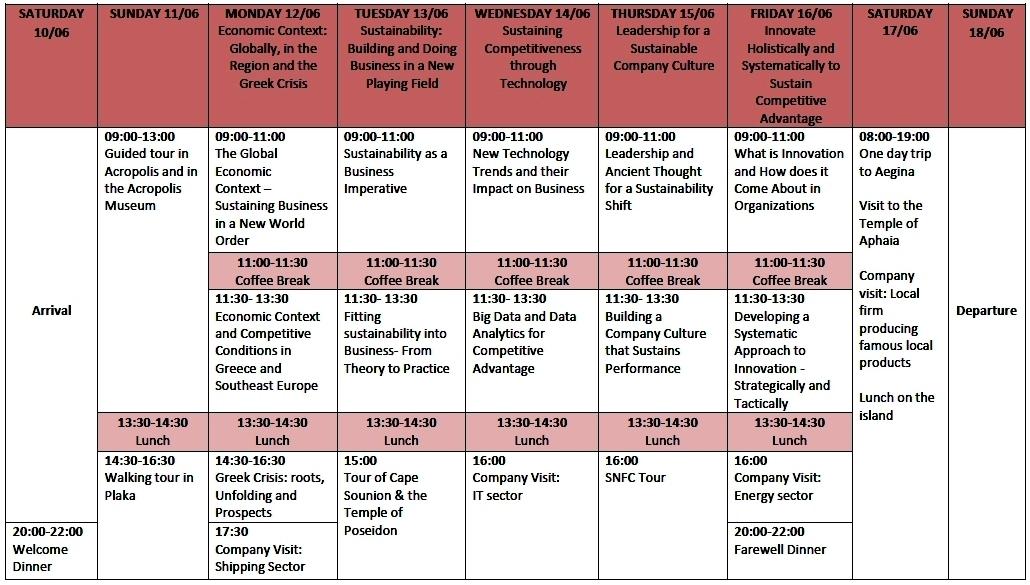 Schedule 9.5.2017