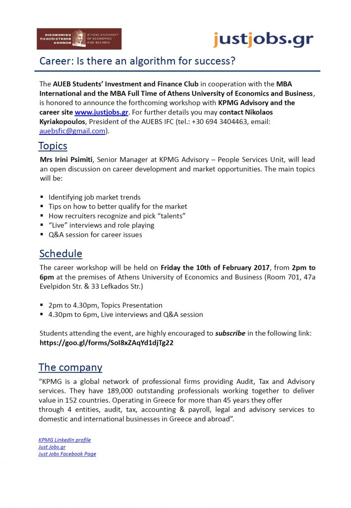 KPMG-justjobs Flyer