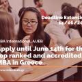 MBA International extends the application deadline until 14/06/2021