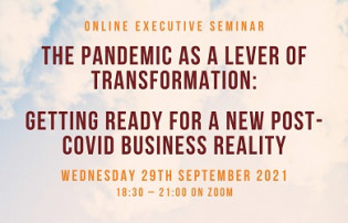 Online Executive Seminar: The Pandemic as a Lever of Transformation